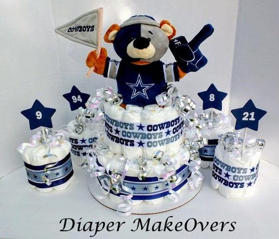 dallas cowboys theme baby shower centerpiece football diaper cake