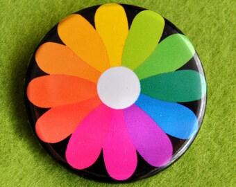 Dandelion Button Badge (or magnet, bottle opener or pocket mirror)