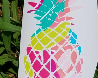 Pineapple Yeti decal! Lily Pulitzer inspired patterns to pick from!