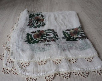 French vintage table cloth (01512)