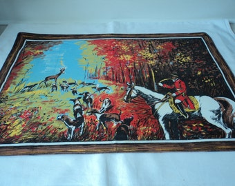 REDUCED - French vintage cotton printed tea towel / torchon  (01563- 03558)