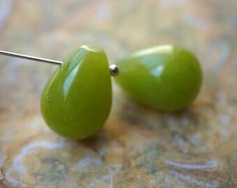 Jade Teardrops, Teardrop Beads, Beads