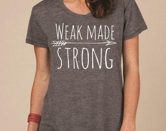 Ezekiel 34:16 - Weak Made Strong Scripture Tee