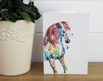 A6/C6 Watercolour Horse Greeting card