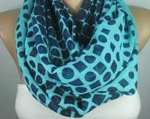 Navy blue scarf infinity scarf loop scarf For Mom circle scarf women fashion accessories Mothers Day gift ideas for her