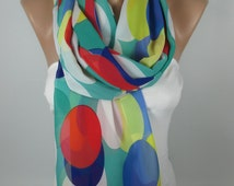 Lightweight Scarf Multicolor Scarf Winter Scarf Women Fashion Accessories Gift Ideas For Her Christmas Gifts Holiday Fashion MELSCARF