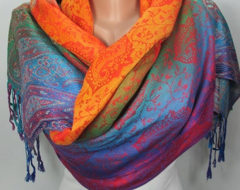 Pashmina Scarf Oversize Scarf Large Scarf Women Fashion Accessories Valentines Day Gift Ideas For Her Mothers Day Gift For Mom