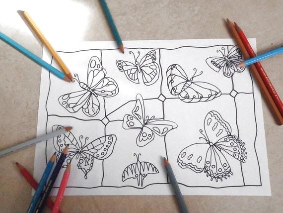 Farfalla Da Colorare Per Adulti Vetrata Anti Stress Zen
