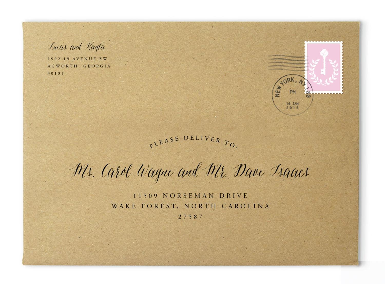 Printable envelope addressing address template