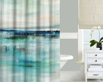 Teal Shower Curtain Etsy