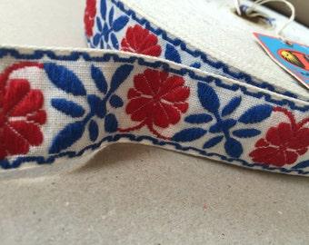 Vintage 70s Ribbon: cross stitch 3cm x 1,00 m / 1