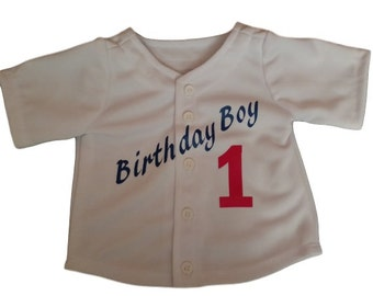 Infant Baseball Jersey  CUSTOM DESIGNED, Birthday Boy, Birthday Girl, Great birthday Outfit, First Birthday