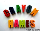 Letter Name Crayons Large Chunky Letters for initials or words