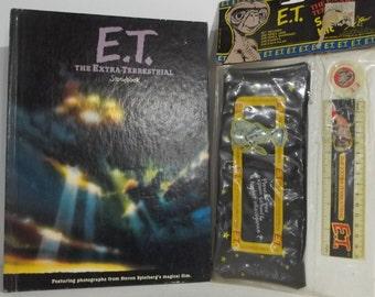 Unopened ET School Kit Including Pencil Case , Sharpener , Ruler , Eraser and ET Story Book