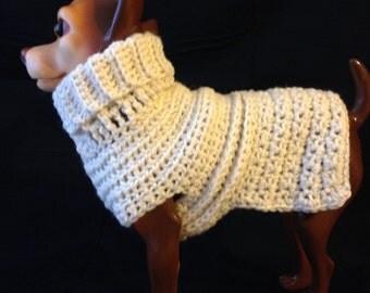 Fisherman's Irish Wool Dog Sweater, Knit Dog Sweater, small dog sweater, dog sweaters, dog sweaters, wool dog sweaters, white dog sweaters