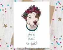 Mature Funny Card, I Love You Card, Card for Her, Card for Him, Dog Lover Gift, Anniversary Card, Funny Valentine, Valentines Day Card
