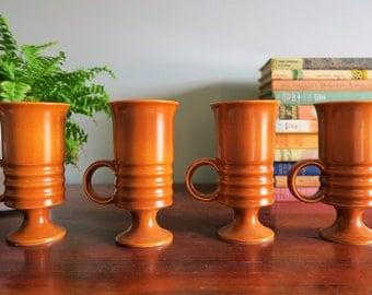 4 1960s Mugs - Carlton Ware Retro Mid Century Brown Coffee - Tea - Mugs -Cups
