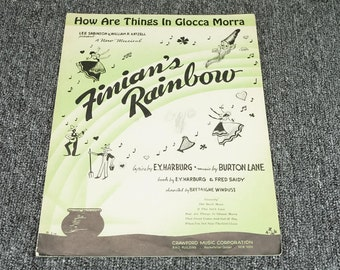 How Are Things In Glocca Morra Finian's Rainbow By Crawford Music Co. C. 1946