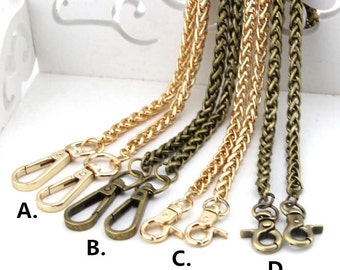 1 Piece 7mm Purse Chain/Lantern Bag Chain/Purse Handles/Handbag Chain Straps,Golden/Bronze