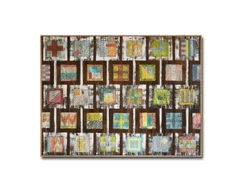 Short Stories, Large Scale Original Art, Acrylic and Mixed Media on Reclaimed Wood Wall Art Panel