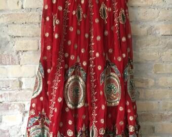 Vintage indian wedding sari/skirt