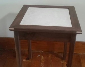 Black Walnut End Table Hand Made can be customized.