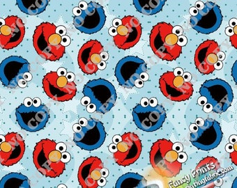 Cookie monster fabric etsy uk for Monster themed fabric