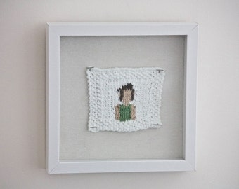 Commissioned Knitted Self Portrait (#Yarnie)