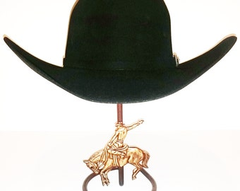 Cowboy Hat Stand with Bronc