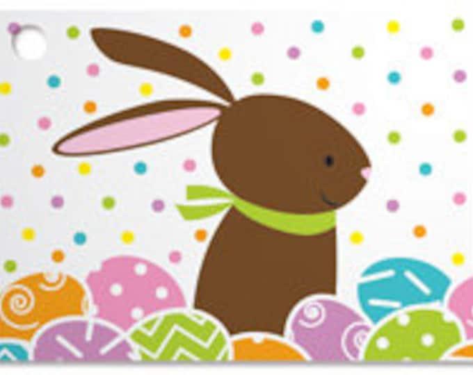 Chocolate Bunny Blank Note Card, Easter Bunny Note Card for Gifts, Cute Bunny Card, Bunny and Easter Egg Card, Sunny Bunny Gardens