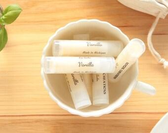 Vanilla Lip Balm, Natural Lip Balm, Yellow Lip Balm, Lip Care, Lip Butter, Lip Moisturizer, Beeswax Lip Balm, Made in Michigan