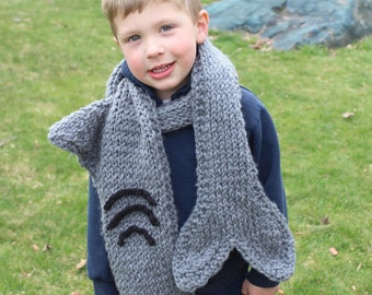 Childrens shark attak scarf