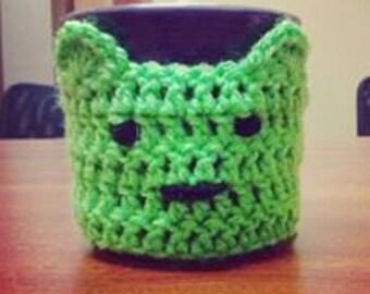 Crochet Alien Coffee Cozy