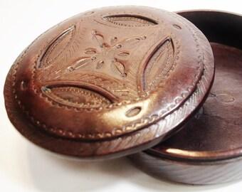 Tuareg leather box-  jewelry box
