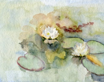 Waterlilies (Original watercolor made from life)