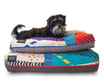 Cloudburst Dog Bed COVER – Teal | Limited Edition | Removable Pet Bed Cover – Pillow Insert Not Included