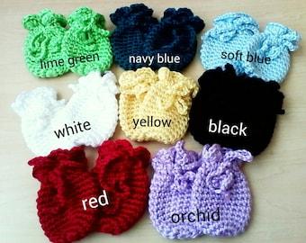 Crochet Baby Mittens 0-3 Months