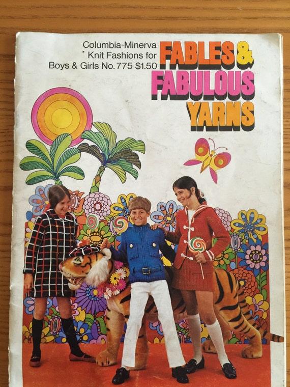 Vintage Knitting Pattern Book Children's knit by ...