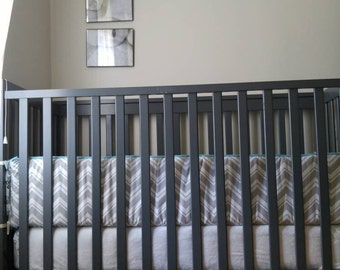 Crib bumper and skirt