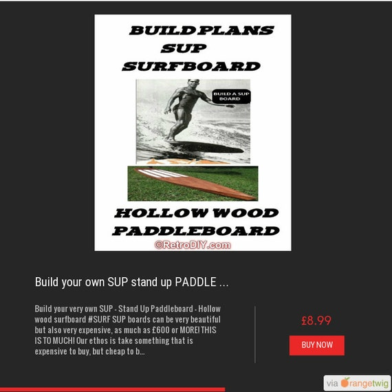 Build your own SUP stand up PADDLE BOARD - hollow wood surfboarddiy build plans #surf