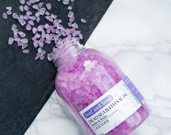Lavender Bath Salts - Soothing & Relaxing Bath Soak - Aromatherapy Bath - Handmade and natural - Home Spa - Detox Bath - Beautiful Scent