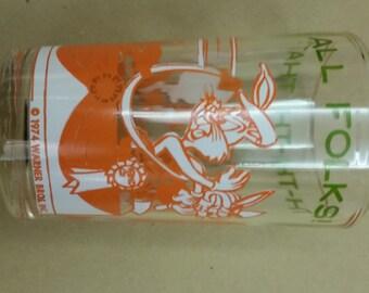 1974 That's all folks County Fair glass
