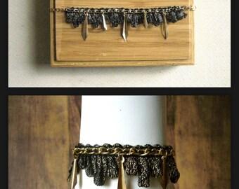 Bracelet black-gold