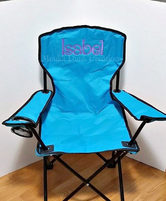 Birthday gift beach chair monogrammed kids folding chair for Monogrammed kids chair