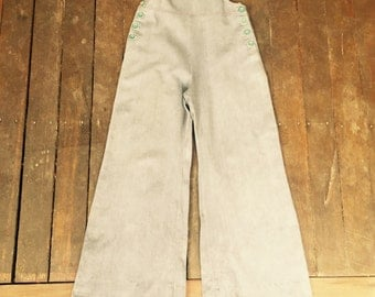 Vintage 70's denim overalls bellbottoms