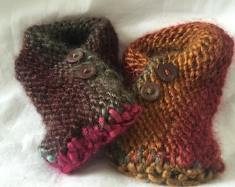 Baby Fold Over Moccasins, Button Moccasins, Handmade Moccasins, Moccasins, Crib Shoes