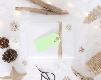 Green Gift Tags