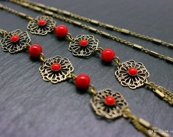 Long necklace art deco