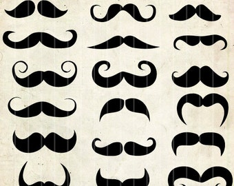 Mustache clipart ,18 png Clipart , Instant Download,  clipart