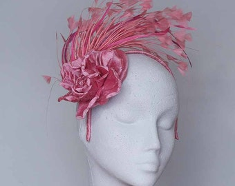 Rose Pink Fascinator Headpiece